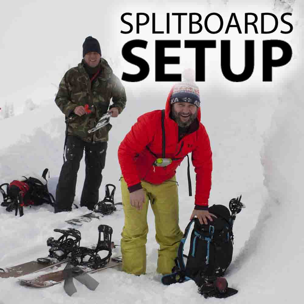 SPLITBOARDS SETUP BINDINGS, SKINS AND ...